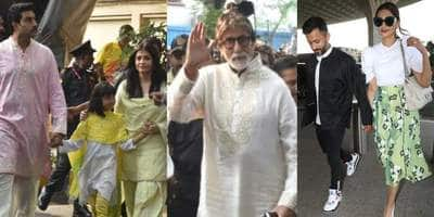 Spotted: Amitabh Bachchan Meets Fans With Entire Family On Birthday, Sonam Kapoor Walks Hand In Hand With Anand Ahuja