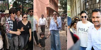 Maharashtra State Elections: Shah Rukh, Deepika And Other Bollywood Celebrities Cast Their Votes, Taimur Accompanies Mom Kareena To The Booth