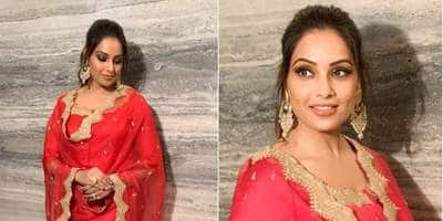 Bipasha Basu's Red Desi Look Is Perfect For Your First Diwali After Marriage