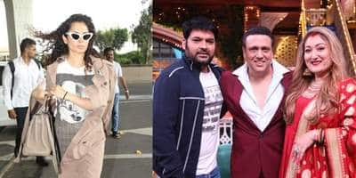 Spotted: Kangana Ranaut Looks Stunning At The Airport, Govinda And Wife Shoot For The Kapil Sharma Show!