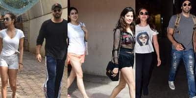 Spotted: Sara-Janhvi Appear Outside Pilates Class, Arjun-Malaika Seen Outside A Clinic!
