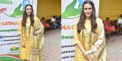 Neha Dhupia's Regal Look Can Be Go To Casual Ethnic Avatar