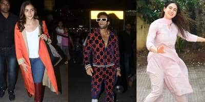 Spotted: Alia Bhatt And Ranveer Singh Heat Up The Fashion Scene At The Airport, Sara Ali Khan Keeps Us With Pilates