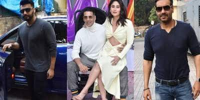 Spotted: Akshay Kumar, Kareena Kapoor, Diljit Dosanjh And Kiara Advani Launch The Trailer Of Good Newwz, Parineeti Chopra Looks Pretty In Black
