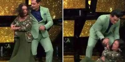 Indian Idol 11: Neha Kakkar Slips And Falls On Stage While Dancing To Dilbar Dilbar With Host Aditya Narayan