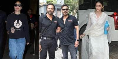 Spotted: Rohit Shetty Joins Ajay Devgn At Tanhaji Trailer Launch, Kareena Kapoor Heads Back To Chandigarh