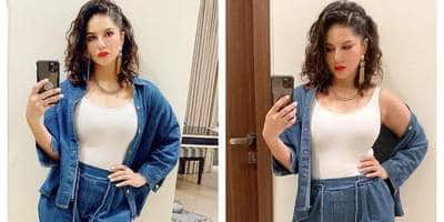 Sunny Leone Is Serving Us Some Denim On Denim Goodness And We Are Digging