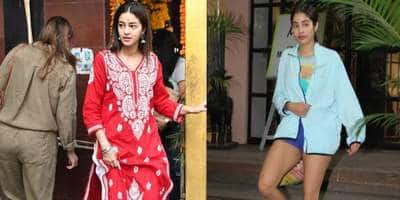 Spotted: Ananya Panday Visits Shani Temple With Mom Bhavna, Janhvi Kapoor's Gym Look Have Us Hooked!