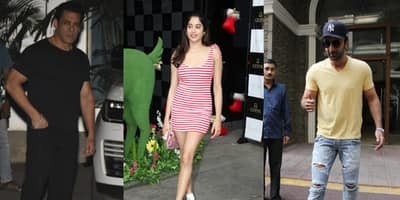 Spotted: Janhvi Kapoor Reminds Us Of Christmas In A Candy-Striped Dress, Ranbir Kapoor Spreads His Charm