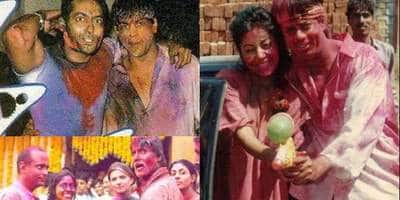 These Old Pictures Of Bollywood Celebs Celebrating Holi Will Send You On A Nostalgic Trip!