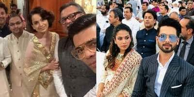 PM Modi's Oath Taking Ceremony: Kangana Ranaut, Karan Johar Pose Together As They Attend The Event With Bollywood In Tow