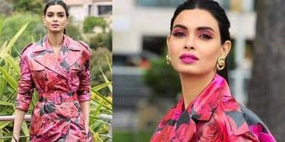 Cannes 2019: Diana Penty Channels Her Inner Jolie In A Floral Trench Coat