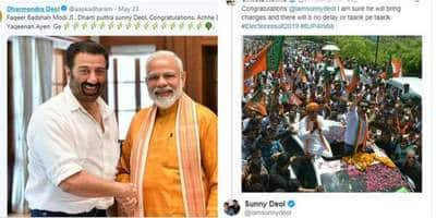 Elections 2019: Family And Bollywood Celebs Congratulate Sunny Deol For Winning Gurdaspur Seat!