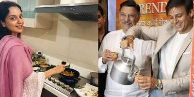 Vivek Oberoi Distributes Tea, Kangana Cooks Pakodas While Salman Khan Chills To Celebrate PM Modi's Win!