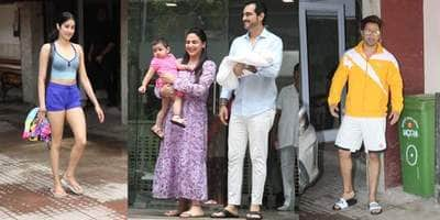 Spotted: Janhvi Kapoor, Varun Dhawan Snapped Outside Gym, Esha Deol Spotted With Her Daughters
