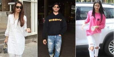 Spotted: Sidhharth Malhotra Raises Temperature At The Airport, Ananya Pandey Keeps It Sweet And Simple