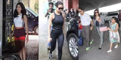 Spotted: Sushmita Sen Leaves For Brother's Wedding, Janhvi, Malaika Snapped Post Workout!