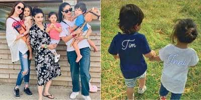 Taimur And Inaaya's Pictures From London Vacay