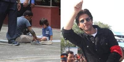 Spotted: Taimur Learns Yoga, Shah Rukh Khan Wins Hearts At An Event!