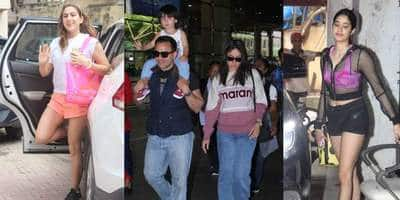 Spotted: Taimur Arrives On Dad Saif's Shoulders Waving, Sara Ali Khan And Janhvi Kapoor Show Us How To Be Cool At The Gym!