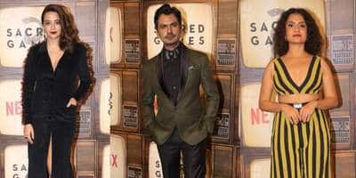 Sacred Games 2: Gaitonde Aka Nawazuddin Siddiqui Arrives In Suit, Surveen Chawla, Amruta Subhas Sizzle At The Premiere!