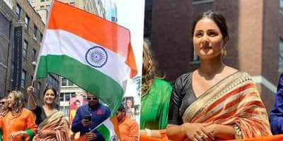 Hina Khan Waving The Indian Flag In New York Will Fill Your Heart With Pride!