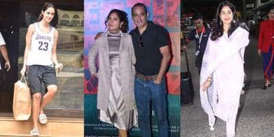 Spotted: Akshaye-Richa Appear Together For Their Film's Trailer Release, Disha Goes Sporty While Janhvi Rocks Ethnic!