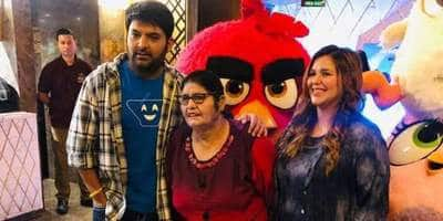 Kapil Sharma Goes Out With Wife Ginni And Mother For A Movie Date! See Pics...