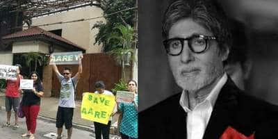 Police Detains 22 Protesters Outside Big B's House