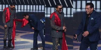 IIFA 2019: Salman Khan Pulls Ranveer Singh's Leg, Says That Deepika's Dresses Look Great On Him!