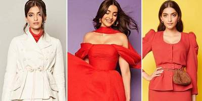 Is Sonam Kapoor Trying To Send Across A Message With These Fiery Shades Of Red And Orange?
