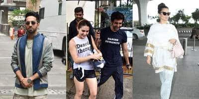 Spotted: Kartik Holds The Umbrella For Sara Outside Gym, Kangana Ranaut, Ananya Panday Make A Stunning Entry To The Airport!