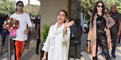 Spotted: Varun Dhawan, Nora Fatehi Get Mobbed At The Airport, Sara Ali Khan Meets Anand L. Rai