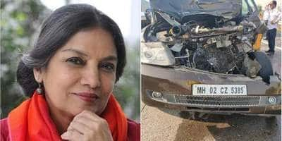 Shabana Azmi Critically Injured After Her Car Met With An Accident On Mumbai - Pune Expressway