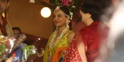 Kajal And Gautam Are All Smiles At Their Haldi Ceremony