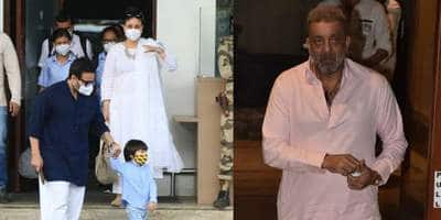 Spotted: Saif Ali Khan And Kareena Kapoor Seen With Son Taimur, Sanjay Dutt Returns Home From Hospital
