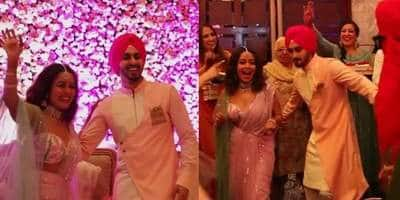 Neha Kakkar And Rohanpreet Singh Dance Away At Their Roka Ceremony Organised By Her Parents