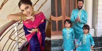 Riteish Deshmukh Turns His Mom's Saree Into Diwali Outfits For Him & His Sons, Bhumi Pednekar Digs Into Her Mom's Wardrobe