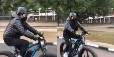 Anil Kapoor Goes Cycling In The Streets Of Chandigarh, Leaves Sports Minister Kiren Rijiju Impressed