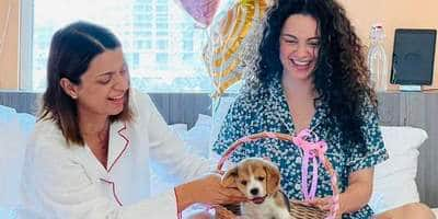 Kangana Ranaut Finally Catches Hints Dropped By Birthday Girl Rangoli; Gifts Her A Puppy Named Gappu Chandel