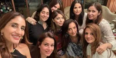 Fabulous Lives Of Maheep, Bhavana, Seema & Neelam Pose Get Together With Other Bollywood Wives