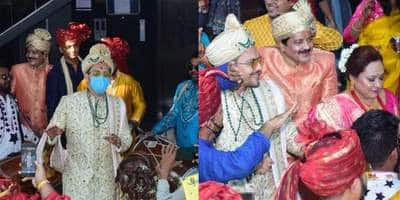 Aditya Narayan Dances To 'Aaj Mere Yaar Ki Shaadi Hai' At His Baraat With Parents Udit And Deepa Narayan; See Pics And Videos