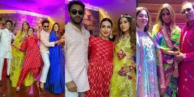 Armaan Jain-Anissa Malhotra Wedding: Couple Dance With Karisma Kapoor, Pose On Their Sangeet Night! See Pics And Videos...