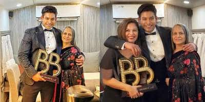 Bigg Boss 13: Sidharth Shukla Poses With Mother And Sister Post Win, Shares A Heartfelt Message For Fans!