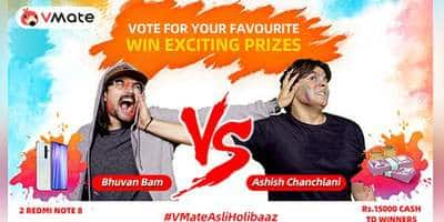 Battle for VMate Asli Holibaaz intensifies as Bhuvan Bam and Ashish Chanchlani call out for fans to vote
