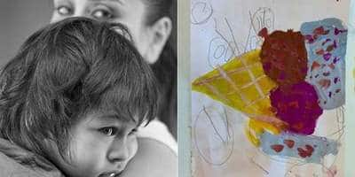 Kareena Kapoor Khan Shares An Artwork By Son Taimur, Calls Him 'In House Picasso'!