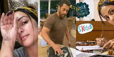 Hina Khan Takes Inspiration From Salman Khan; Channelizes Her Inner Artist During Self-Quarantine