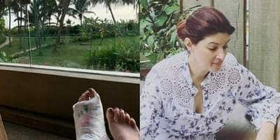 Twinkle Khanna Lets Her Kids Play Tic Tac On Her Foot Cast, Reveals Who Gave The Idea