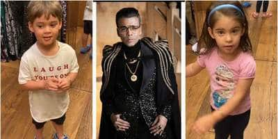 Karan Johar's Daughter Roohi Doesn't Like His Clothes, Son Yash Feels He Should Wear Simple Clothes; See Video