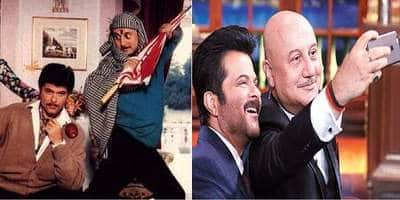 Anil Congratulates Anupam On 36 Years in Films